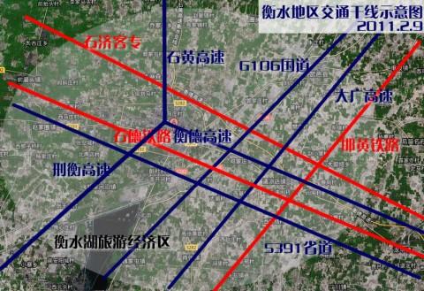 衡水地区交通干线示意图